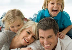 A family treated by our family dentist in Herndon, VA